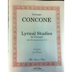 Concone Lyrical Studies for Trumpet med akkompagnement